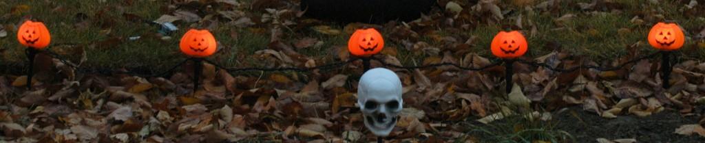 Halloween yard lights