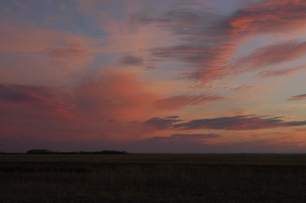 October prairie sunrise