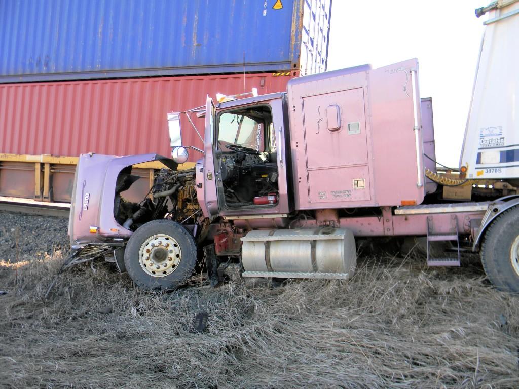 train-truck collision