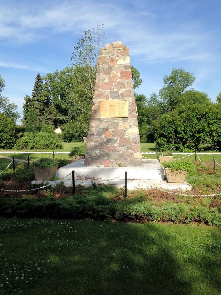 War memorial at Wilkie, Saskatchewan
