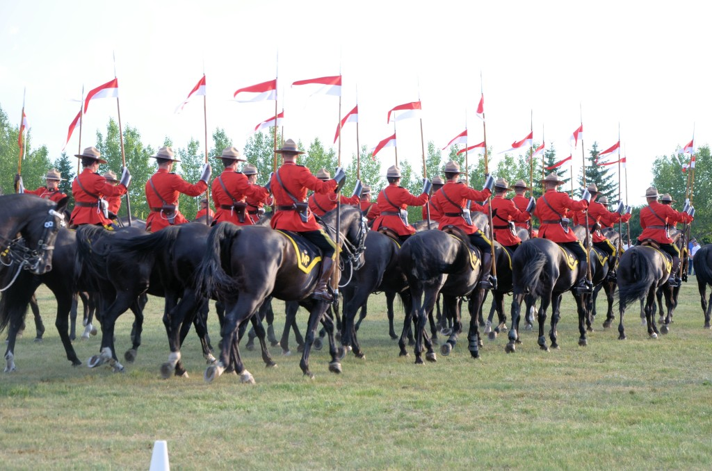 RCMP Musical Ride at Wilkie SK