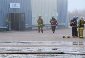 4 firefighters and hall door