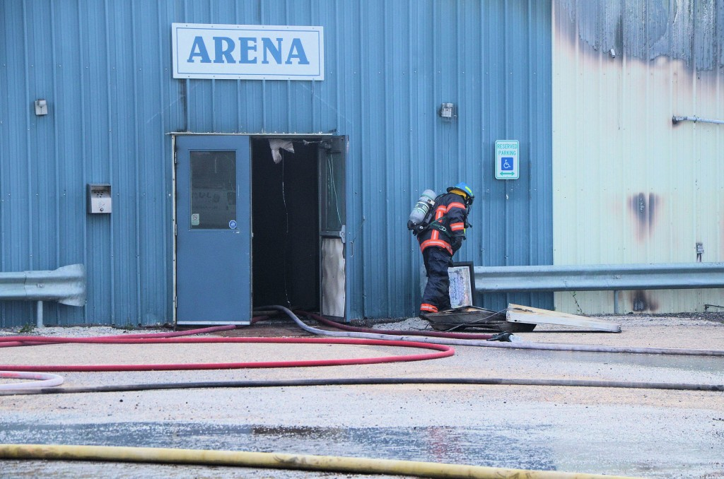 Wilkie arena fire
