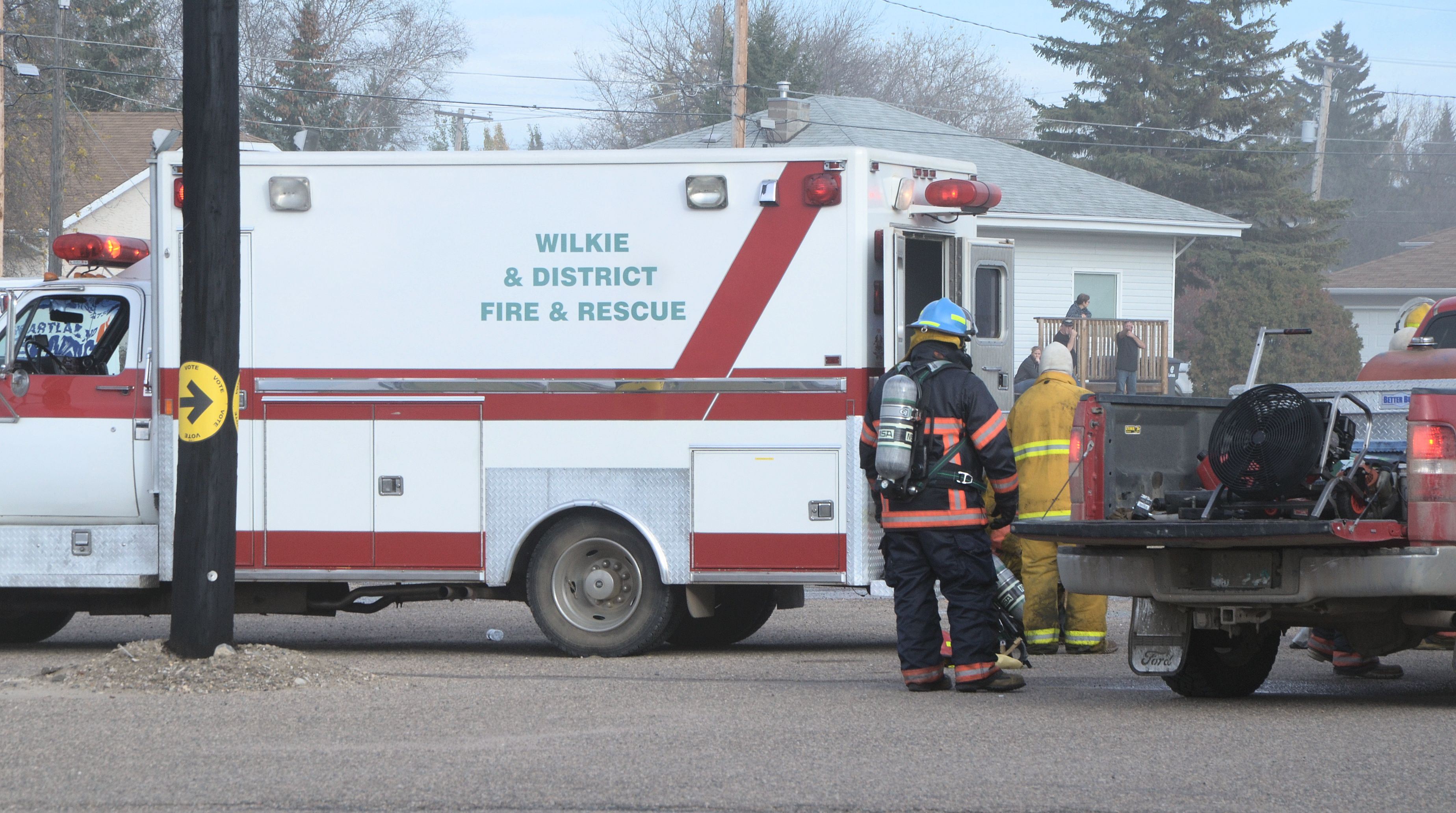 Wilkie SK arena fire