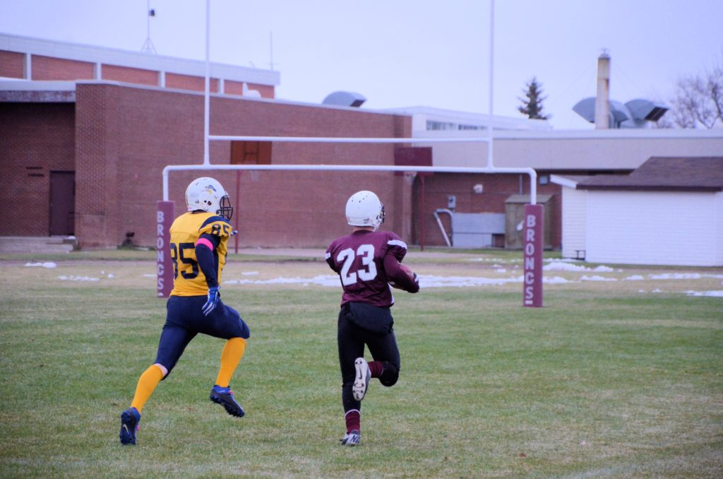 high school football in west-central Saskatchewan