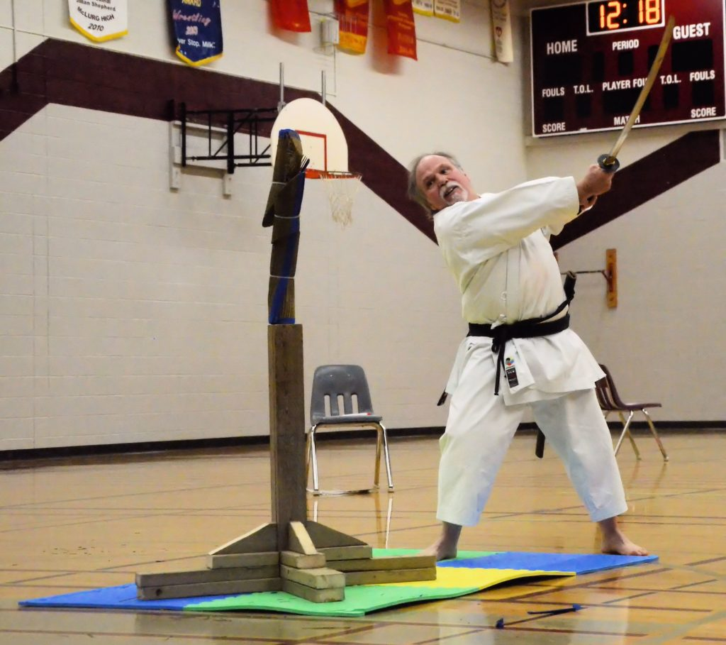 karate sword follow-thru